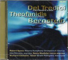 Del Tredici (Paul Reveres Ride) Theofanidis (Here & Now) Bernstein (Jeremiah) CD