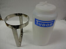 LAND ROVER SERIES 1 & 2 & 3 TUDOR WASHER BOTTLE AND STAINLESS STEEL HOLDER