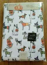 "Hallow Home Halloween Tablecloth 60 x 84"" Dogs Puppies NEW Water Fade Resistant"