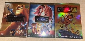 Disney's The Lion King Trilogy 1 2 3 DVD Set Includes All 3 Movies 1 1/2