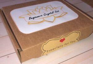 GIFT BOXED 7 Pc LARGE 2cm-3cm CHAKRA HEALING CRYSTALS GEMSTONE Kit set + INFO