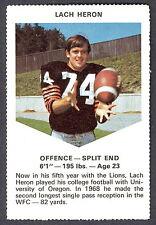 1971 CHEVRON TOUCHDOWN CARDS CFL FOOTBALL B C LIONS LACH HERON UNIV OF OREGON