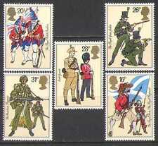 GB 1983 uniformes/Militar Ejército// Banderas/armas 5v n27087