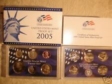 2005 US MINT PROOF 11 COIN SET w/COA SOLD OUT! BLUE BOX