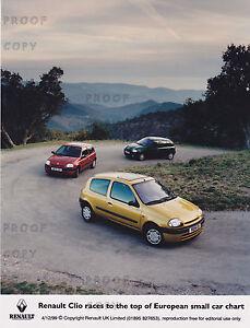 RENAULT CLIO 1999 PRESS PHOTO   ***POST FREE UK ***