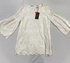 Scotch & Soda Masion Anglaise Embroidered White Top Ladies Size UK 8 *REF174