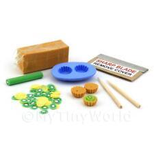 miniatura per casa delle bambole Kiwi KIT Crostatina Con Stampo in silicone