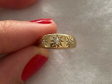 Antique 18k and Diamond Gypsy Ring