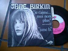 "7"" JANE BIRKIN JE T'AIME MOI NON PLUS AVEC S. GAINSBOURG JANE B. SG113 EX/EX+"
