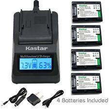 Kastar FV50 Battery&Ultra Fast Charger for Sony HDR-PJ260V HDR-PJ340 HDR-PJ380