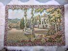 "Terrace Gardens Lake Como Italian Woven Jacquard Tapestry Wall Hanging 47 X 33"""