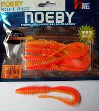 Noeby pêche leurre souple odorant worm twist 10cm non étiré 5,6g couleur 207
