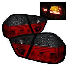 BMW 06-08 3-Series Sedan 4Dr E90 LED Red Smoke LED Rear Tail Lights Set