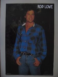 ROB LOWE, AUTHENTIC  1987  POSTER