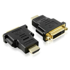 HDMI-M (19-pin) to DVI-I Female Dual Link (24+1) HDTV / TV / Monitor Adapter