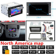 6.2 in (environ 15.75 cm) 2-Din GPS Navigation Auto Radio DVD CD Player Bluetooth iPod universel