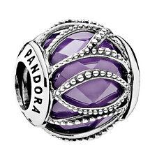 Genuine Pandora Purple Intertwining Radiance Charm Silver S925 ALE 791968ACZ
