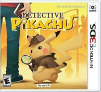 Detective Pikachu Pokemon Video Game (Nintendo 3DS, 2018) Brand New Sealed