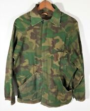 Vintage 70s Ranger Reversible Military Hunting Camo Jacket Coat Distressed USA M