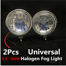 "2X 3.5"" 100W AUTO CAR MOTORCYCLE VAN HEADLIGHTS FOG LIGHTS REVERSE DRIVING LAMPS"