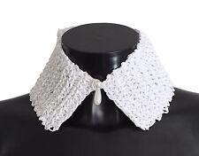 NWT $120 FOREVER by Giuliana Ogliari White Raffia Neck Tie Wrap Collar