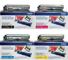 4 Genuine Brother TN210BK TN210Y TN210C TN210M Color Toner HL-3040CN MFC-9120CN