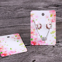 Hanging Earring Display Cards Set, 100 Pieces, 10 Different Patterns