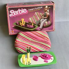 BARBIE Dream Furniture SOFA & COFFEE TABLE No. 2474 MATTEL 1978 Collectible TOY