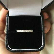 Diamond Half Eternity Ring in Platinum Hallmarked 950 Size M 54 Classic