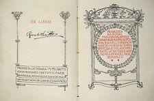 G. D'ANNUNZIO FRANCESCA DA RIMINI 1^ ED. TREVES 1902 ILL. DE CAROLIS
