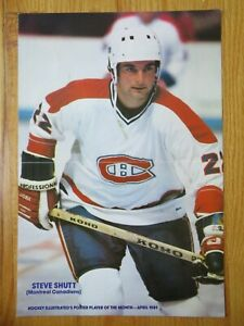 1981 Hockey Illustrated STEVE SHUTT No. 22 MONTREAL CANADIENS Pin-Up Poster