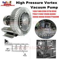 High Pressure Vortex Blower Fan Vacuum Pump Industrial Air Booster Fan 220V/380V
