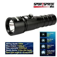 XTAR D26  XM-L2 LED 4 Mode 1100 Lumens CREE Diving Flashlight 26650/18650/18700