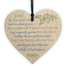 Friendship Sign Inspirational Shabby Chic Heart Plaque Birthday Gift Thank You