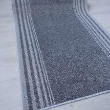 Topp ! Teppich Läufer SALSA Grau 80 cm breit Velours meliert rutschfest
