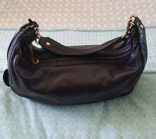 Designer JUICY COUTURE Soft Leather Black Shoulder Bag Handbag B6