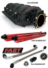 New Black FAST LSX 92mm GM LS1 LS2 LS6 Intake, Billet Fuel Rails, Lines & Gauge