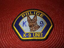 Police K-9 Unit Patch Full Color