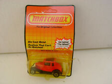 1983 MATCHBOX SUPERFAST #73 RED MODEL A FORD HOT ROD NEW ON DAMAGED CARD