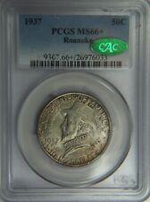 1937 Roanoke Commemorative Silver Half Dollar PCGS MS66+ & CAC