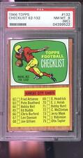 1966 Topps 132 Checklist NOS. 62 -132 NM-MT PSA 8 (MC) Graded Football Card