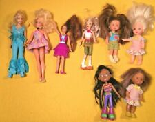 "Lot of 8 Mattel & Disney Dolls 4"" to 7"""