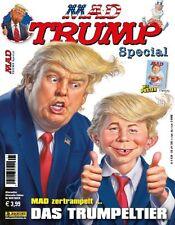MAD SPECIAL: DONALD TRUMP deutsch SONDERHEFT 1 mit Poster PANINI Extra-Ausgabe