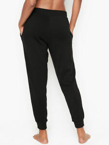 VICTORIA'S SECRET ESSENTIAL JOGGER BLACK SWEATPANTS PANTS size L