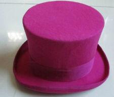 "NEW 100% Wool Purple Victorian Mad Top Hat,Vivi,magic hat,Performing cap 6.5"""
