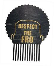 Respect The Fro Men's Man Novelty Hair Comb Pick Laser Engraved Great for Afros