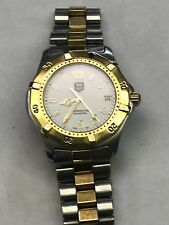 Tag Heuer 2000 Professional White WK1120 Gold SS Watch Mens 2-Tone Mint Crystal