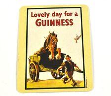 Guinness Bier Bierdeckel Untersetzer Coaster - Motiv Pferd im Karren