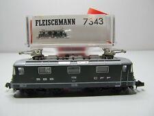 161N - Fleischmann N 7434 (?) - Elok Re 4/e 11156 grün der SBB - top in OVP