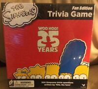 The Simpsons Fan Edition Trivia Game 25 years new Cardinal Board Game
